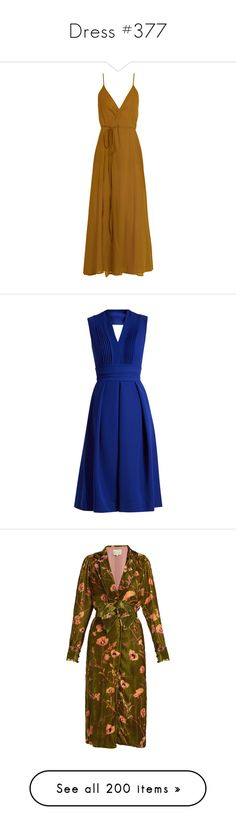 """""""Dress #377"""" by bliznec-anna ❤ liked on Polyvore featuring dresses, vestidos, camel, brown dress, ballerina dresses, cotton dress, cross over dress, camel dress, blue and cutout back dresses"""