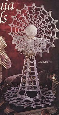 Moje schematy aniołków - nula - Picasa Web Albums na Stylowi.pl Crochet Christmas Decorations, Christmas Crochet Patterns, Crochet Chart, Plant Hanger, Free Pattern, Dandelion, Decoupage, Butterfly, Birds