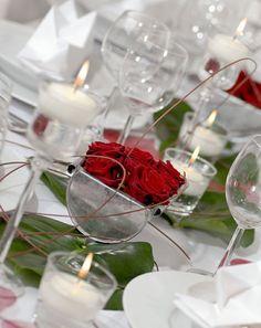 Hochzeisfest, Tischdekoration, Tischdeko, Blumen