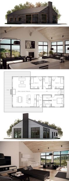 Small home plan with three bedrooms, affordable to build house plan