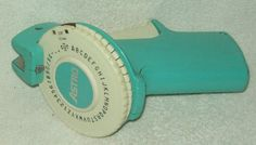 Vintage Label maker! My mom had one and I used to use it. After a couple minutes, your hand would get so tired and the space between your thumb and first finger would get red and hurt super bad hahaha!