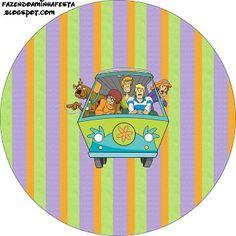 LARGE PRINTABLE SET- Scooby Doo – Kit Completo com molduras para convites, rótulos para guloseimas, lembrancinhas e imagens! | Fazendo a Nossa Festa