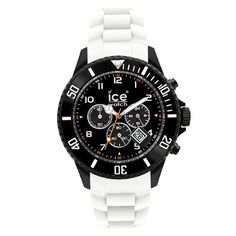 Ice-Watch Ice-Chrono Collection Black Sili White Big Watch CH.BW.B.S.10