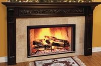 Majestic SB38 Cottage Red Built-In Biltmore Collection 38 Inch Radiant Wood Burning Fireplace with Traditional Fire Brick