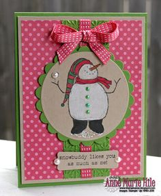 Stampin' Anne: Snowbuddy Likes You and the Paper Players, Too!