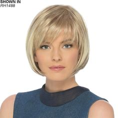 Petite Charm by Estetica Designs - Synthetic Pure Stretch Cap Wig - The HeadShop Wigs Bobs For Thin Hair, Short Hair With Layers, Short Hair Cuts For Women, Short Bob Haircuts, Hairstyles Haircuts, Straight Hairstyles, Bob Hairstyles For Fine Hair With Fringe, Asymmetrical Bob Haircuts, Teenage Hairstyles