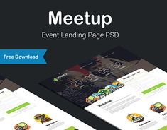 Ознакомьтесь с этим проектом @Behance: «Meetup - Event Landing Page (Free Download PSD/HTML)» https://www.behance.net/gallery/26479637/Meetup-Event-Landing-Page-(Free-Download-PSDHTML)