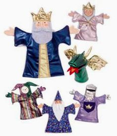 PUPPET Sewing Pattern  6 Hand Puppets & Stage ~ Stocking Stuffer