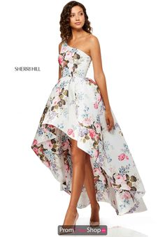 989fce2d490db Ivory Print Blush Cocktail Dress, Womens Cocktail Dresses, Parker Black,  Sherri Hill Prom