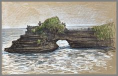 Bali and Java captured on toned paper Bali Painting, Travel Drawing, Toned Paper, Urban Sketchers, Mount Rushmore, Prismacolor, Watercolor, World, Drawings