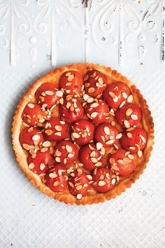 Apricot-Almond Tart Recipe - Saveur.com ~ A combination of all-purpose and potato flours gives this simple summer tart a delicate, crumbly crust. Plums, peaches, or berries can be substituted for apricots. This recipe first appeared in our August/September 2013 Heartland issue with the story The Pastry Stop.