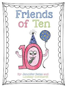 I am so excited to show you what I've been busy working on. It is called Friends of Ten and I made it with my friend Lindsay! We were worki. Math Classroom, Kindergarten Math, Classroom Activities, Teaching Math, Teaching Ideas, Kindergarten Addition, Making Ten, Book Making, Math Addition