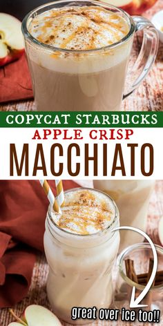 This copycat Starbucks Apple Crisp Macchiato brings together rich espresso and the nostalgic flavors of spiced apple pie. The homemade apple cider syrup creates the perfect flavor base for today's coffee, serve this hot or cold!