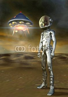 UFO: alien and ufo, art by Luca Oleastri - www.innovari.it #ufo