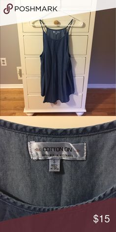 Denim tunic Attention: total side boob shirt! Super cute denim shirt with low sides. Perfect paired with liquid leggings or black jeans. Cotton On Tops Tank Tops