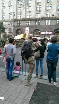 20.08.2015. Preparation for the parade dedicated to the Independence Day of Ukraine.