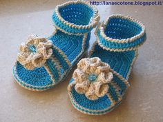 Lana e Cotone (maglia e uncinetto): Sandali all'uncinetto