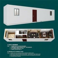 40 Feet Comfortable Container House picture from Shandong Wecheer Green Building Technology Corp. view photo of Container House, Container Box, Vacation Container House. Container Home Designs, Cargo Container Homes, Building A Container Home, Container Buildings, Container House Plans, Storage Container Homes, Container Cabin, Shipping Container Homes, Shipping Containers