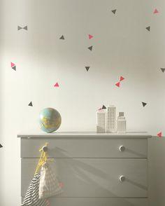 mini triangle wall stickers