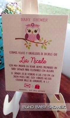 Invitación cute pink búho