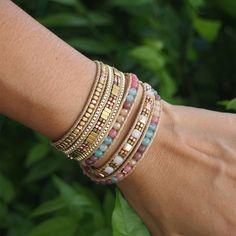 5 times Wrap Bracelet, Multi color beaded mix, Boho bracelet, Beadwork bracelet by G2Fdesign on Etsy