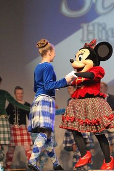 Minnie Mouse a Highland Dancer who would have thought?