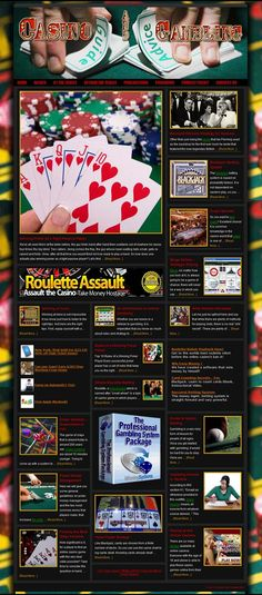 Casino and Gambling ready-made website for sale!   With an exceptional content of over 200 articles, the site is organized in chapters pretty much like a book. As you can see from the menus most topics have been covered - in three categories: 1-Basics (understanding the odds, money management, winning strategies, mistakes, online gambling and even IRS and taxes). 2-Tables games (poker, blackjack, craps, roulette, baccarat). 3-Other games (slots, video poker, sports betting, bingo, keno).