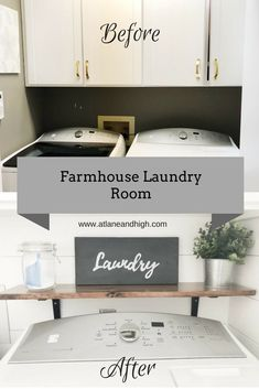 I am absolutely thrilled to finally share my Farmhouse Laundry Room with you! We were very lucky to have gotten an extra week, thank you January for having 5 weeks this year! Erin at Lemons, Lavender and Laundry started this challenge and I was very inspi Farmhouse Laundry Room, Farmhouse Decor, Laundry Rooms, Coastal Farmhouse, Farmhouse Ideas, Farmhouse Design, Cool Diy, Décor Boho, Laundry Hacks