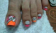 Toe Nail Color, Toe Nail Art, Easy Nail Art, Nail Colors, Manicure, Pedicure Nails, Pedicure Designs, Toe Nail Designs, Cute Pedicures