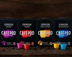 40 CAFEPOD NESPRESSO COMPATIBLE COFFEE CAPSULES SELECTION - http://nespressoshop.net/40-cafepod-nespresso-compatible-coffee-capsules-selection
