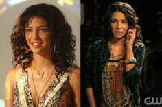 Vanessa from Gossip Girl's fashion choices often include patterns