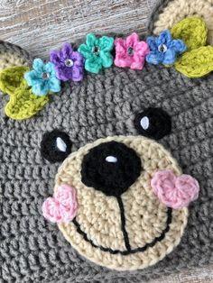 4c9ae583962 Crochet Pattern Only - Crochet Teddy Bear Hats for Girls and Boys -  Children s Teddy Crochet Hat - I