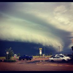 Shelf cloud, Martensville, SK, July 3, 2012. Photo by Kristine Spence.