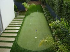 Have a small space and love golf? Maybe a putting green is your thing.