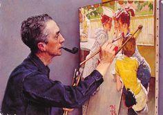 1950 SODA JERK | Norman Rockwell (1894-1978)