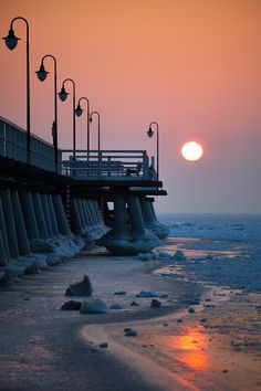 A pier in Orlowo, Gdynia, Poland. Wonderful Places, Beautiful Places, Visit Poland, Poland Travel, Baltic Sea, Central Europe, Warsaw, Beautiful World, Wonders Of The World