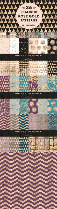Funny how a simple little background pattern can completely change the look and feel of your website or latest project. So just imagine what injecting some warm Chevron Patterns, Gold Pattern, Realistic Rose, Rose Gold Foil, Gold Texture, Digital Pattern, Background Patterns, Midnight Blue, Scrapbook Pages