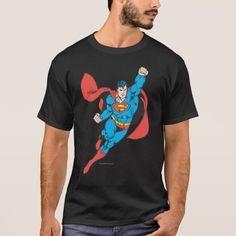 shirt homme-Noir DC Comics-Superman-Flag-Tee