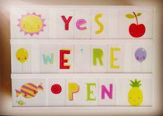 Yes we are!  At least we are until six o'clock after that: weeeeekend! #shop #open #weekend #SaturdayShopping #lightbox #kawaii #color #cute #livinglounge #parijsstraat