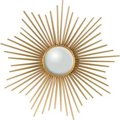 This mini starburst mirror from Global Views offers Hollywood Regency-style glitz in a smaller dose with gold rays forming a star-like pattern. x D Brass Mirror center Gold leaf finish Hang on a keyhole Please alllow 2 weeks for delivery Sun Mirror, Brass Mirror, Round Wall Mirror, Beveled Mirror, Mirror Door, Mirror House, Convex Mirror, Vases, Starburst Mirror