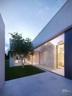 Dom pod Warszawą. Projekt: Tamizo Architects Mateusz Stolarski