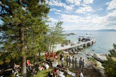Lakefront Lake Tahoe wedding ceremony from Eric Asistin Photography