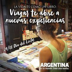 """""""La vida es como un libro:  Viajar te abre a nuevas experiencias""""  www.argentina.tur.ar #Libro #Experiencias #Viajar #Viajes #Turismo #Turista #Argentina #Maleta #Frases Traveling, Countries, Book, Tourism, Buenos Aires Argentina, Places"""