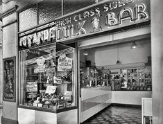 High Class Milk Bar at the Opera House, Manners Street, Wellington, New Zealand (circa 1935)