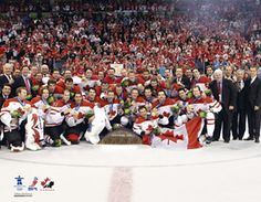 Team Canada Hockey 2010 OLYMPIC GOLD MEDAL On-Ice Celebration Poster Print - available at www.sportsposterwarehouse.com
