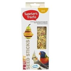 Tweeter's Treats Seed Sticks are a delicious seed stick treats made with tasty ingredients and specifically tailored for small and large #parrots. #birds