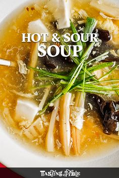 Hot & Sour Soup A rich and comforting Asian soup that packs a punch.  The spicy Chinese takeout staple you should be making at home.