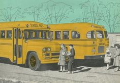 Riding the bus in Schaumburg Township Old School Bus, School Bus Driver, Back To School, School Buses, School Days, Bus Humor, Short Bus, Feel Good Stories, Automobile