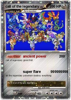 All Shiny Legendary Pokemon   Pokémon call of the legendary - ancient power - My Pokemon Card