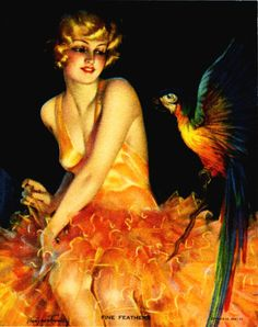 Fine Feathers! 1930s, Bradshaw Crandell
